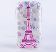 Pink Tower Pattern Transparent Painted Relief TPU  Material Phone Shell for Alcatel One Touch POP C3