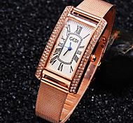 nova moda roma diamante balança digital de marcação quadrado banda de aço luxo requintado relógio de quartzo das senhoras