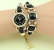 Fashion Women's Waterproof Crystal Weaving Bracelet Watch
