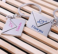 lettre d'alliage de zinc porte-clés en forme (2 ps)