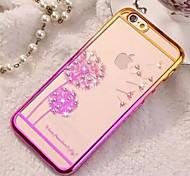 iphone 7 più diamante modello guscio trasparente per il iphone 5 / 5s