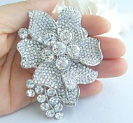Wedding Accessories Silver-tone Clear Rhinestone Crystal Bridal Brooch Wedding Deco Bridal Bouquet Wedding Brooch