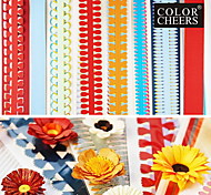 40PCS 51cm Multi-Shapes Quilling Paper Set Different Flower Petal Creative DIY Origami Paper-Rolling(5PCSx8 Set)