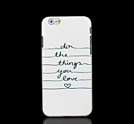 Phrase Pattern Cover for iPhone 6 Case