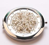 Schnee Sensation Taschenverfassungsspiegel Kosmetik Hand tragbaren miroir espelho Espejo de maquiagem bolso maquillaje bling