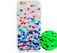 Farbe der Liebe Muster Lichtfestrückseitigen Abdeckung für iphone6