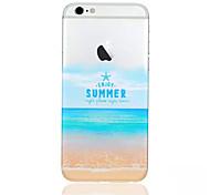 escudo do telefone padrão praia de material TPU fino para iphone 6 / 6s
