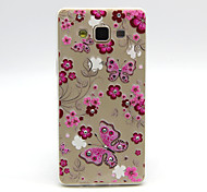 For Samsung Galaxy Case Rhinestone / Transparent / Pattern Case Back Cover Case Butterfly TPU Samsung A5