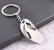 Stainless Steel Flip-flops Flip Flop Key Chain Ring Keyring