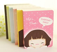 Cute Girl Pattern Notebook (Random Color)