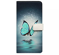 iPhone 7 Plus Butterfly Pattern Wallet Card PU Case With Stand for iPhone 5/5S