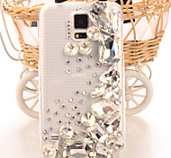 Fashion Diagonal Shaped diamond Case Bowknot Pattern Rhinestone Case for S5