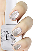 LIBEINE 1pc Soak Off 15 ML UV Gel Nail Polish Color Gel Polish 010# Dazzle White