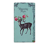 Universal Deer Pattern PU Material Wallet Style Card Phone Case for Samsung Galaxy Ace 4 G357FZ G313H S2 I9100 S4Mini