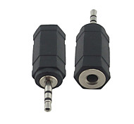 2.5mm Male Plug to Female 3.5mm Stereo Jack Adapter Converter