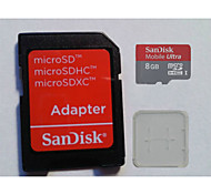 SanDisk 8GB 48M/S MicroSD Memory Card And The Memory Card And The Memory Card Adaptor Box