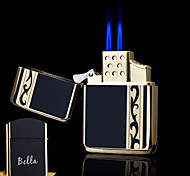 Personalized Gift Laces Design Boutique Metal Black Double Flame Butane Lighter