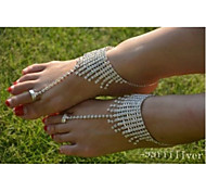 Women's Anklet/Bracelet Crystal Simulated Diamond Unique Design Fashion Jewelry Silver Women's Jewelry Wedding Party Daily Casual 1pc