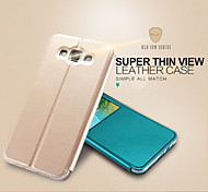 KALAIDENG Sun Series Super Thin View Leather Case for Galaxy E5