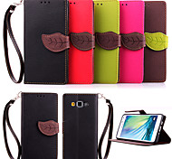 For Samsung Galaxy Case Pattern Case Full Body Case Solid Color PU Leather Samsung A5