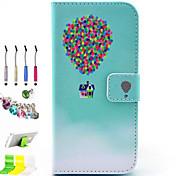 padrão balão pu tudo incluído com o caso de entalhe e caneta conjunto de obturador poeira suporte para o iPhone 6