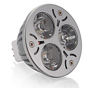 Faretti 3 LED ad alta intesità MR16 GU5.3 3 W 250 LM Bianco caldo 1 pezzo DC 12 V