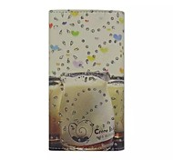Diamond Milk Bottle Patterns Wallet Card General PU Leather Full Body Case for Gionee Elife E6
