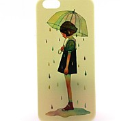 The Girl With An Umbrella Pattern Hard Case Cove for iPhone 6