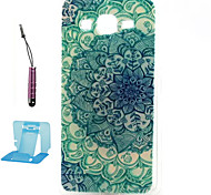 padrão TPU casos de telefone celular caso macio azul e branco para samsung galaxy alpha / g5308