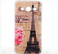 For Samsung Galaxy Case Pattern Case Back Cover Case Eiffel Tower TPU Samsung Core 2