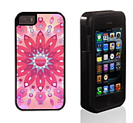 Pink Lotus Pattern 2 in 1 Hybrid Armor Full-Body Dual Layer Shock-Protector Slim Case for iPhone 5/5S