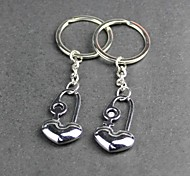 Alloy Lovers Mini Love Long Lock Key Chain