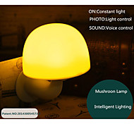 Voice and light control LED mushroom night light for room decoration and night application
