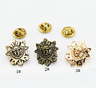 European Style Fashion Suits Small Shield Brooch
