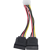 4 Pin IDE Molex to Dual 15 Pin Serial ATA SATA Hard Drive Power Adapter Cable