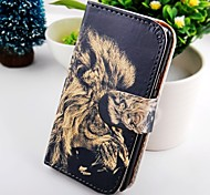 The Lion Turn Around Wallet Stand PU Leather Case For Samsung Galaxy S2 SII I9100