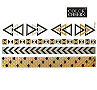 1Pc Long Bracelet Tattoo Sticker 23x11CM