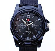 relógio Swiss Army relógios pulseira de tecido de quartzo dos homens