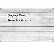 Personalized Name Tag Sticker Horizontal Plank Pattern (Set of 18pcs)