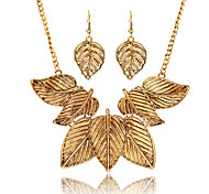Fashion Personality Leaves Alloy Pendant Necklace