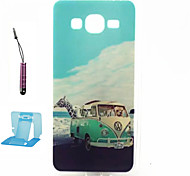 Travel  Pattern TPU Case Soft Cell Phone Cases  for Samsung Galaxy Alpha/G5308
