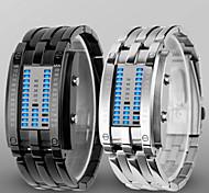 Unisex Reloj Deportivo Digital LED / Resistente al Agua Aleación Banda Reloj de Pulsera Negro / Plata