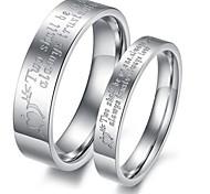 Couple de Bagues/Bagues Affirmées ( Acier au titane ) Mariage/Soirée/Quotidien/Casual
