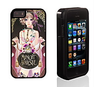 Midnight Arabesque Pattern 2 in 1 Hybrid Armor Full-Body Dual Layer Shock-Protector Slim Case for iPhone 5/5S