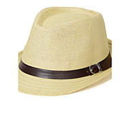 Unisex Vintage/Casual Summer Fashion Matching Straw Fedora Hat