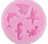 Bakeware Silicone Dolphin Baking Molds for Fondant Candy Chocolate Cake