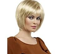 cabelos lisos europeu luz tecer médio peruca cabelo loiro