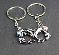Alloy Dolphin Lovers Key Chain