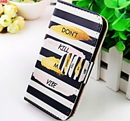 English Around the Stripes Pu Leather Case for Samsung Galaxy S2 I9100