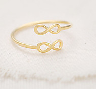European Style Fashion Dual 8-word Lucky Number 8 Ring